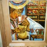 Pictura pe sticla - Pictor roman