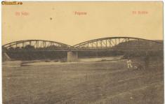 Carti Postale Romania 1904-1918 - CFL 1912 ilustrata Fagaras podul peste Olt cliseu crem