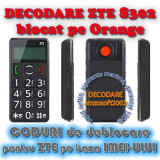 Decodare telefon, Garantie - DECODARE DEBLOCARE ORANGE ZTE S302 ONLINE, PE IMEI *** Trimit codul de deblocare pe mail, Y, Skype etc. *** PRET PROMOTIONAL ***