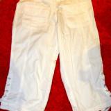 Pantaloni dama, Trei-sferturi, Alb - Pantaloni albi 3/4 noi