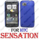 CARCASA HTC Sensation 4G - MESH EDITION - BLUE - CARCASA DE PROTECTIE POLICARBONAT MAT HTC Sensation 4G
