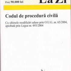 Carte Drept civil - CODUL DE PROCEDURA CIVILA ( ACTUALIZAT LA 01.01.2005 )