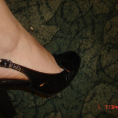 Pantofi negri - marime 35 - Pantof dama