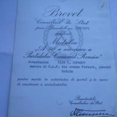 Brevet RSR Medalia