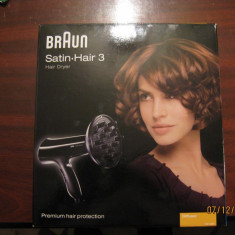 USCATOR DE PAR, BRAUN SATIN.HAIR 3---PRODUS NOU, SUPER PRET