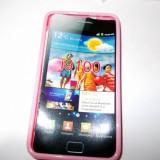 Vand husa silicon TPU Samsung Galaxy S2 culoare roz(calitate foarte buna)