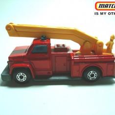 MATCHBOX-LESNEY-made in England- FIRE EMERGENCY TRUCK-++2100 DE LICITATII !! - Macheta auto Matchbox, 1:87
