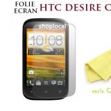 3X FOLIE ECRAN HTC DESIRE C (a320e)  (SET DE 3BUC) - LIVRARE GRATUITA IN TARA - CEL MAI MIC PRET