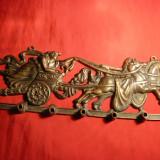 Cuier din bronz, vechi - Car de Razboi antic, L= 26, 5 cm - Metal/Fonta