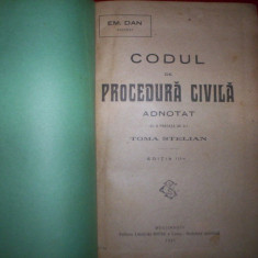 Codul de procedura civila adnotat/an 1921-Em.Dan - Carte Drept procesual civil