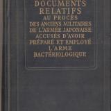 Carte hobby - (C1503) DOCUMENTS RELATIFS AU PROCES DES ANCIENS MILITAIRES DE L'ARMEE JAPONAISE ACCUSES D'AVOIR PREPARE ET EMPLOYE L'ARME BACTERIOLOGIQUE, 1950