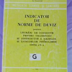 INDICATOR DE NORME DE DEVIZ PENTRU LUCRARI DE CONDUCTE, TRANSPORT, DISTRIBUTIE A GAZELOR SI LICHIDELOR PETROLIERE/G/ED.II-A/1981 - Carti Constructii