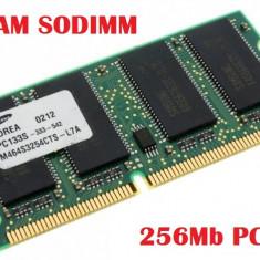 Memorie Laptop Micron 256Mb SDRAM 133Mhz PC133 CL2 SoDIMM- Transport Gratuit - Memory(A72) - Memorie RAM laptop