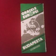 Mihail Gabriel Albota Orasele Europei -Budapesta - Harta Turistica