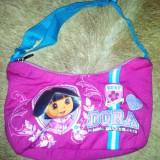 Gentuta Copii - Posetuta cu Dora, de la Nickelodeon, din material, ca noua