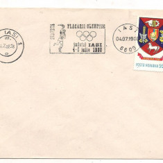 Plic omagial-TRASEUL FLACARII OLIMPICE-MOSCOVA 1980-Iasi, Dupa 1950