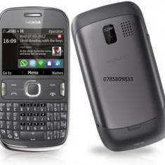 Telefon mobil Nokia Asha 302, Negru, Vodafone - Nokia 302 schimb cu blackberry