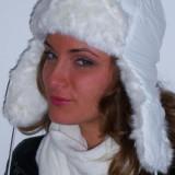 Caciula ruseasca alba - Caciula Dama, Marime: One size