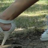 Sandale albe superbe, perfecta stare! Super oferta! - Sandale dama, Marime: 39, Culoare: Negru