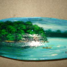 VAS din LEMN pictat - suvenir BRAZILIA - Arta din America