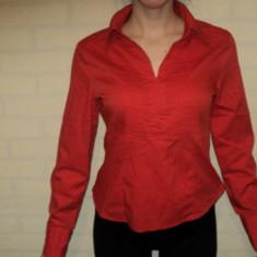 Camasa dama TinaRoffice, Marime: 40, Culoare: Rosu, Maneca lunga, Rosu