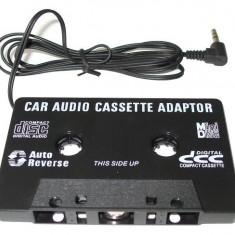 Modulator FM auto - CASETA ADAPTOARE PENTRU CASETOFON MP3, DVD, TELEFON, IPOD