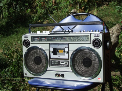 SHARP GF 9191 BOOMBOX RADIO CASETOFON RADIOCASETOFON GHETTO BLASTER foto