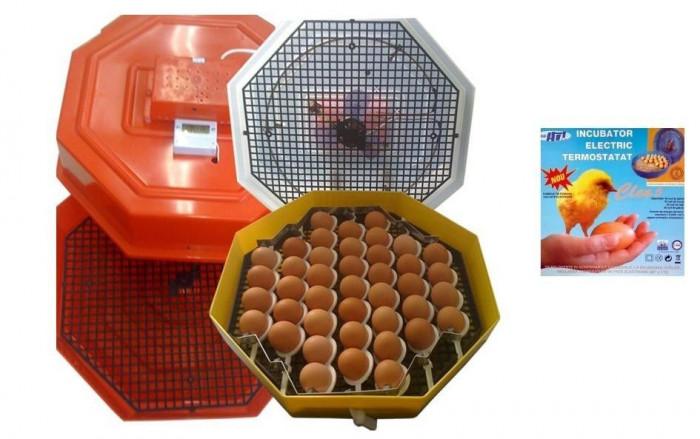 Incubator electric clocitoare 60 oua cleo 5, intoarcere, termostat foto mare