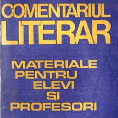 COMENTARIUL LITERAR - MATERIALE PT ELEVI SI PROFESORI de VASILE POENARU