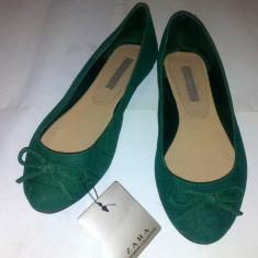 Balerini dama - Balerini ZARA verde / verzi marimea 36. Noi, cu eticheta!