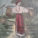 Goblen inramat (rama de lemn+sticla) - Tapiterie Goblen