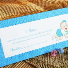 Plic bani / card place / card multumire - Invitatii botez