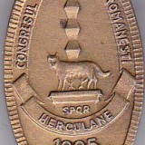 Insigna Congresul Spiritualitatii Romanesti Herculane 1995 SPOR Romania
