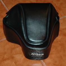 Toc piele foto Nikon - Husa Aparat Foto
