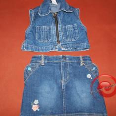 Haine Copii 1 - 3 ani - Vesta jeans, de blugi, costum de blugi