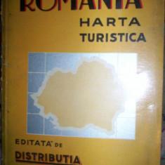 Romania-harta turistica(editie veche)