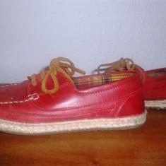 Pantofii marimea 33 piele ZARA - Pantofi copii Zara, Culoare: Rosu, Unisex