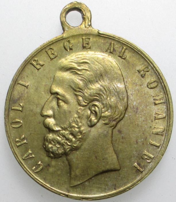 [ - H - ] Medalie 10 Maiu 1881 Regele Carol I Proclamarea Regatului foto mare