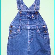 DE FIRMA _ Sarafan blugi fetite, bretele reglabile, H&M _ fete | 18 - 24 luni, Culoare: Bleumarin