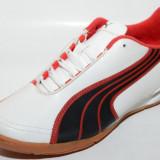 Ghete fotbal sala Puma 10230802, ORIGINALE, alb, negru, rosu