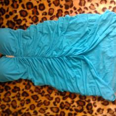 Rochie Bleu ROXY - - - Marimea S - Rochie de seara Roxy, Marime: 34, Scurta, Fara bretele