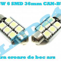 LED-URI AUTO BEC LED C5W C10W SOFIT FESTOON 6 SMD 36 mm CANBUS PLAFONIERA - Led auto Houde, Universal