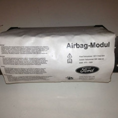 Modul Airbag frontal pasager partea dreapta ford mondeo generatia a 3a mk3 din anii 2000 - 2006 prefacelift si facelift model cu 2 mufe - Airbag auto, MONDEO III (B5Y) - [2000 - 2007]