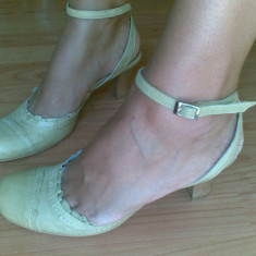 Pantofi dama, Marime: 38, Bej - Pantofi din piele marimea 38, sunt noi!