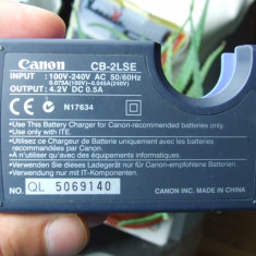 Incarcator baterie baterii ACUMULATOR Canon CB-2LSE aparat foto - Incarcator Aparat Foto