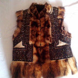 BUNDITA Bucovineana (blana de dihor) !!! - Costum populare, Marime: M/L, M/L
