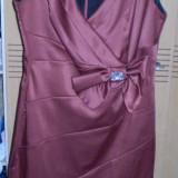 Rochie din satin pentru ocazii speciale /marimea 38, Fara maneca
