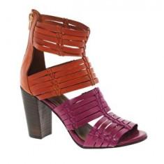 Sandale Piele - Sandale dama Asos, Marime: 37, Culoare: Rose, Rose