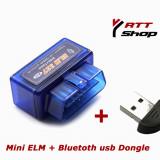 Promo! Mini ELM327 OBD2 Blue Interfata diagnoza. Cip PIC18F2080 Microchip. Compatibila Android Torque + USB Bluetooth Dongle - Interfata diagnoza auto