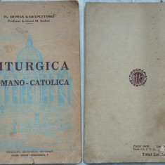 Preot Roman Karapczynski, Profesor la Liceul Sf. Andrei, Liturgica romano - catolica, 1937 - Carte Editie princeps